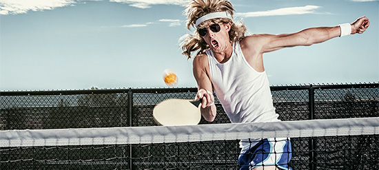 pickleball player in action