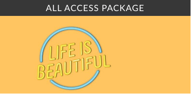 life is beautiful hotel package all access