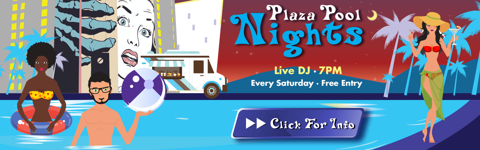 Plaza Pool Nights - Every Saturday