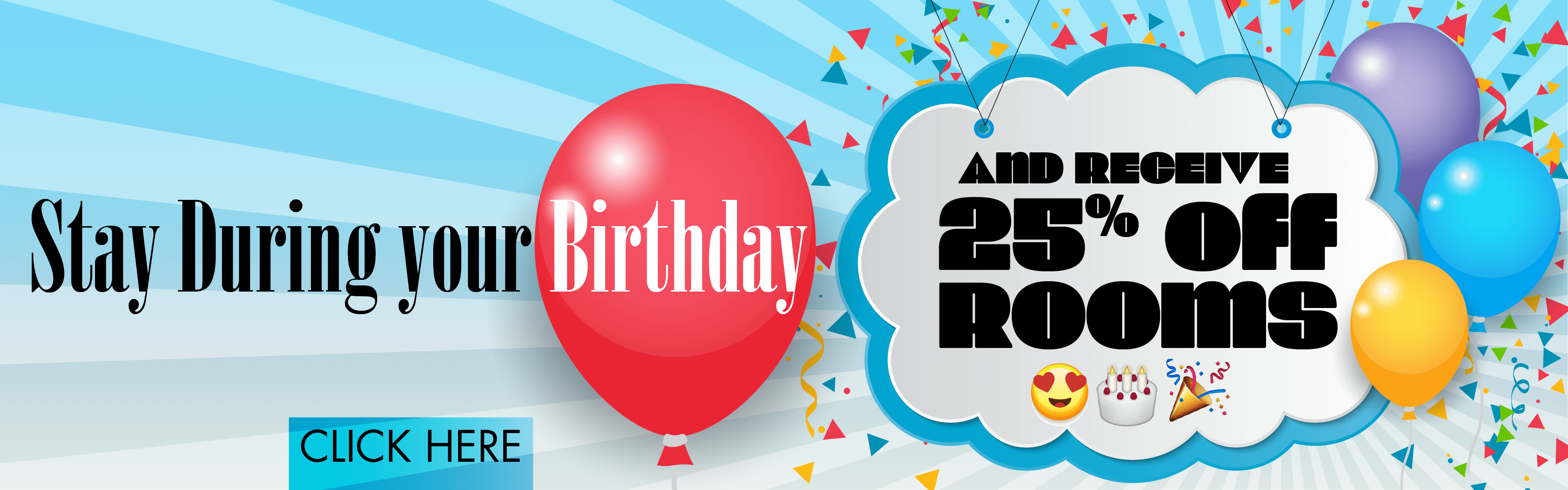 25% off rooms for your birthday