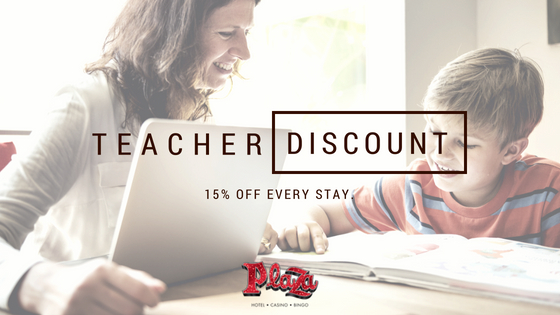 teacher discount plaza hotel & casino