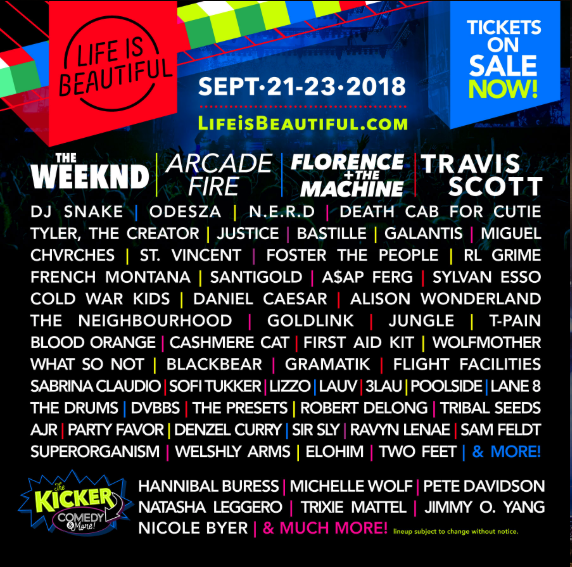 life is beautiful lineup