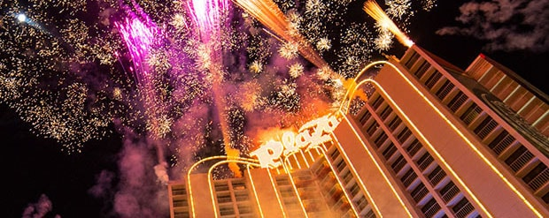 Fireworks at the Plaza Hotel and Casino