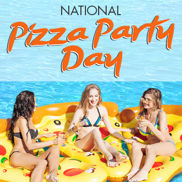 National Pizza Party Day Downtown Vegas Pool