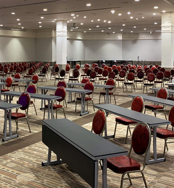 Plaza Las Vegas Convention Space with Social Distancing